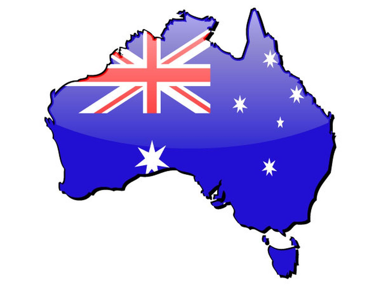 australia-flag-map-wallpaper